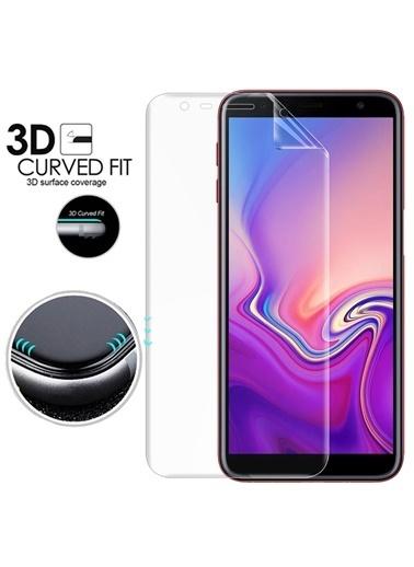 Microsonic Samsung Galaxy J6 Plus Ön + Arka Kavisler Dahil Tam Ekran Kaplayıcı Film Renksiz